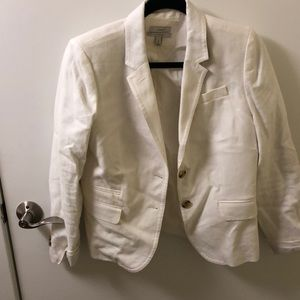 JCrew white schoolboy blazer worn twice!!
